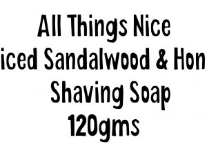 All Things Nice Shaving Soap 1