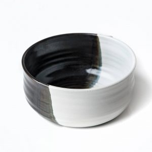 Handmade Black White Lathering Bowl