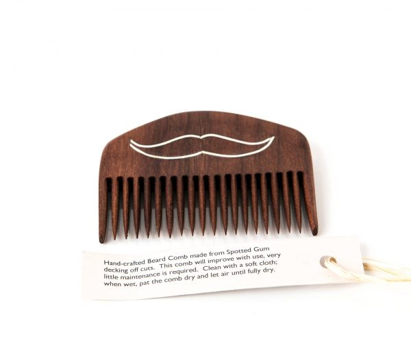 Spotted Gum Handmade Beard Combs