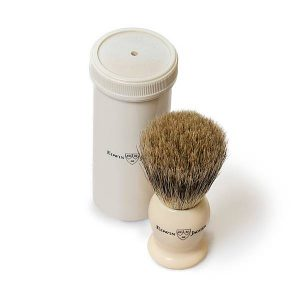 Badger Travel Brush Faux Ivory Edwin Jagger 1