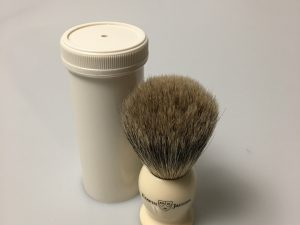 Badger Travel Brush Faux Ivory Edwin Jagger
