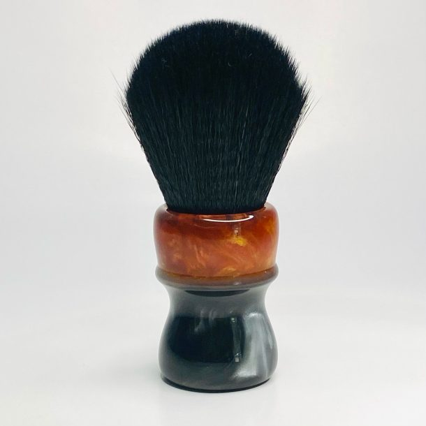 Handcrafted Shaving Brush Red Gold and Black