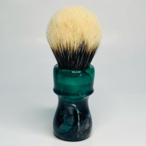 Handcrafted Shaving Brush Emerald Green with Black