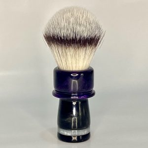 Handcrafted Shaving Brush Dark Purple and Black