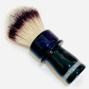 Handcrafted Shaving Brush Dark Purple and Black 1