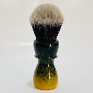 Shaving brush with black and yellow